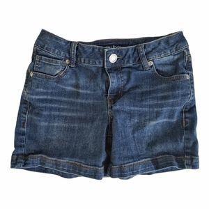 Maurices Mid Rise Dark Wash Denim Shorts 0